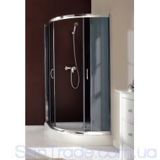 Душевая кабина полукруглая Deante VANILLA, стекло графитовое, 80 см