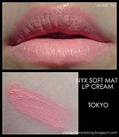 Матовая помада NYX Soft Matte Lip Cream цвет Tokyo