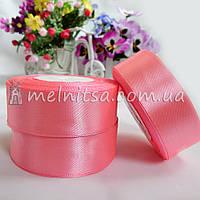 Атласная лента 2,5 см, №5 розовый, рулон 23 м