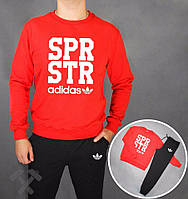 Спортивный костюм Adidas spr str, красный верх, черный низ, ф3696