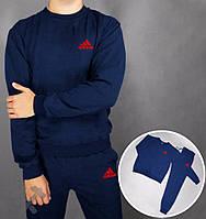 Спортивный костюм адидас синий, красный логотип, ф3729