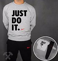 Спортивный костюм Nike, серая кофта, черные штаны, ф3784