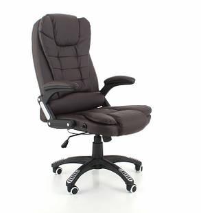 Компьютерное кожаное кресло Veroni коричневое, фото 2