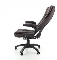Компьютерное кожаное кресло Veroni коричневое, фото 3