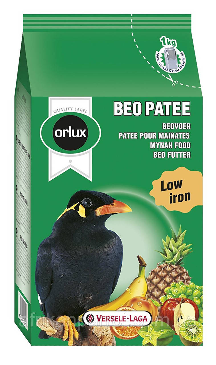 Versele Laga Orlux beo patee 1kg -Корм для птиц Майна
