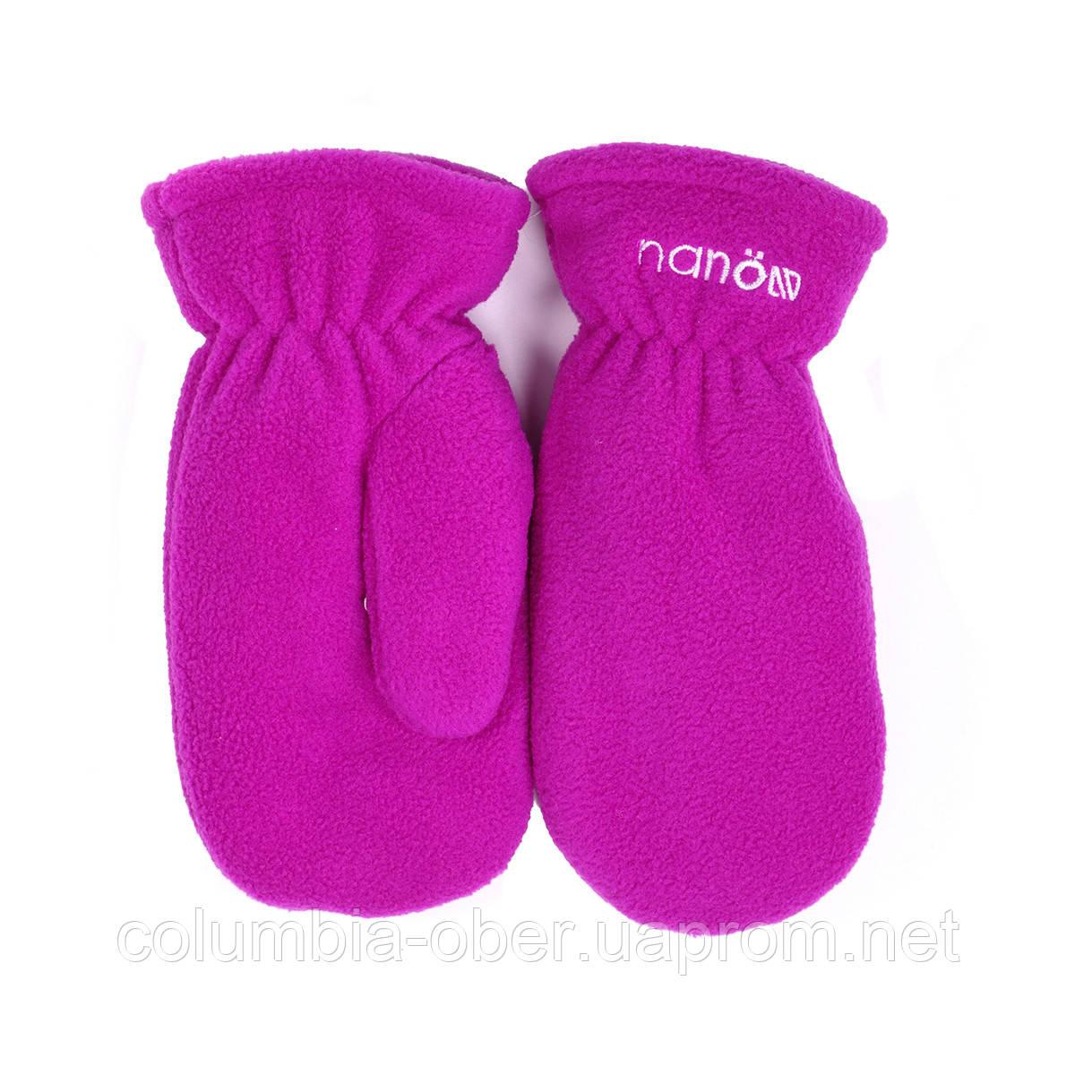Зимние флисовые рукавицы для девочки Nano 500 MITP F16. Размер 12/24 мес -10/12.