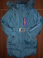 Пальто зимнее на девочек, 122 - 140 см