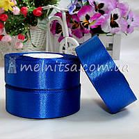 Атласная лента 2,5 см, №40 синий, рулон 23 м