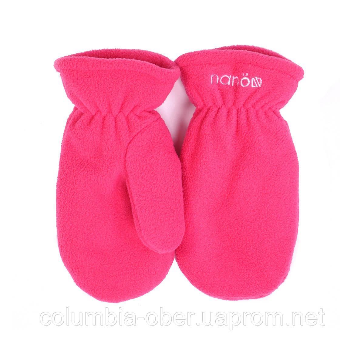 Зимние флисовые рукавицы для девочки Nano 500 MITP F16 Bright Coraline. Размеры 12/24 мес -10/12.