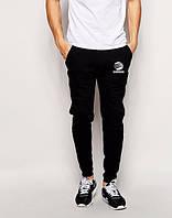 Штаны на флисе, штаны зимние Adidas, Адидас, черные, мужские, ск2