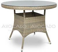 Стол плетеный из ротанга ROMA  GREY 80х80см