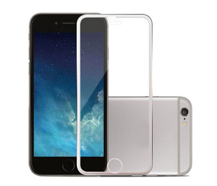 """3D Metall защитное стекло для iPhone 7 / iPhone 8 4.7"""" - Silver"""