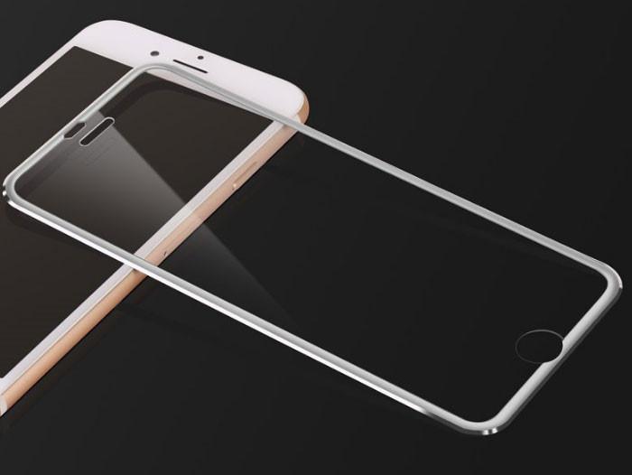 3D Metall захисне скло для iPhone 7 Plus / iPhone 8 Plus - Silver