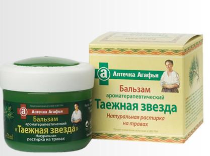 "Растирка ароматерапевтическая ""Таежная звезда"" Аптечка Агафьи 75 мл"