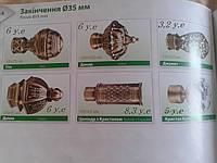 Окончание / Насадка для карниза металлического  35 мм