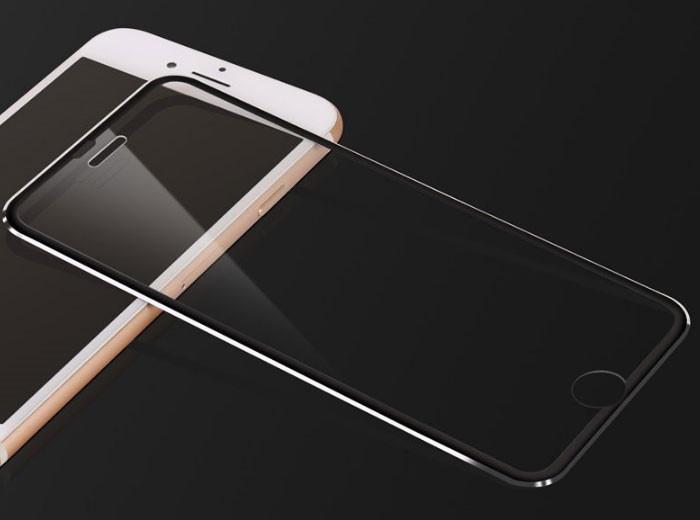 3D Metall защитное стекло для iPhone 7 Plus / iPhone 8 Plus - Black