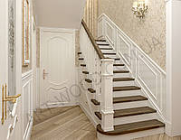 Лестницы из дерева на заказ, под ключ, цена договорная