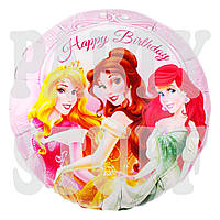 Воздушный фольгированный шар Принцессы, 44 см, фото 1