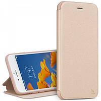 Кожаный Чехол Hoco Juice series Nappa для iPhone 6/6S Plus золотой, фото 1