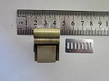 Замок клавишный, для портфеля, барсетки 20 х 27 мм антик, фото 2