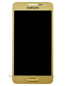 Дисплей (экран) Samsung A300F Galaxy A3, A300H with touch screen (с тачскрином в сборе) ORIG, gold(золотистый)