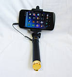 Селфи палка c шнурком, черная., F3/3G, фото 3
