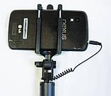 Селфи палка c шнурком, черная., F3/3G, фото 4