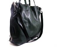 Женская кожаная сумка-тоут (Италия) зеленая
