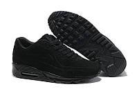 """Зимние кроссовки на меху Nike Air Max 90 VT Tweed Fur """"Black"""" - """"Черные"""" (Копия ААА+), фото 1"""