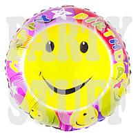 Воздушный фольгированный шар Смайлики, 44 см