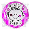 Воздушный шарик фольгированный Baby Girl, 44 см