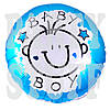Надувной шарик праздничный фольгированный Baby Boy, 44 см