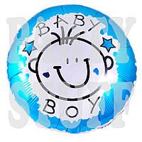 Надувной шарик праздничный фольгированный Baby Boy, 45 см