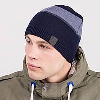 Вязаная мужская зимняя шапка - Артикул m58d