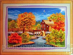 Алмазная мозаика 5D Бриллиантовые ручки Осенние воспоминания 5D (GU_198422) 103 х 76 см