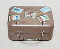 """Коробочка-чемоданчик для чая или леденцов """"Вояж"""" 7х5 см"""