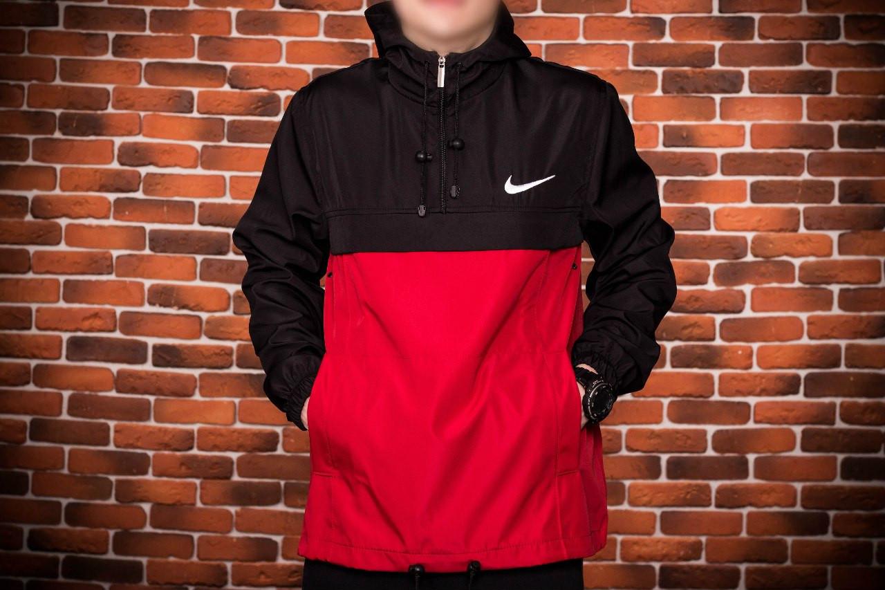 a5f4bbfc Анорак, ветровка, куртка весна/осень! черный+красный: продажа, цена ...