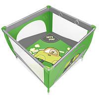 Манеж Baby Design Play Up 04 Green (с кольцами)