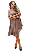 """Оливковое свободное платье"""" Нью-Йорк"""", батал. Арт-8738/74"""