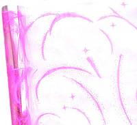 """Пленка """"Вьюга"""" с розовым рисунком (60 см; 400 г)"""