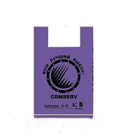 Пакет майка БМВ 40x60  Comserv цветной  (уп.100 шт).