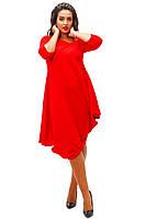 """Красное свободное платье"""" Нью-Йорк"""", батал. Арт-8738/74"""