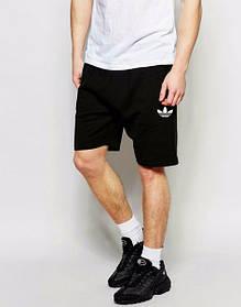 Шорты Adidas, адидас, черные, белое лого, трикотаж, ст2