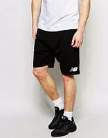 Шорты New Balance, нью беленс, черные, хлопковые, спортивные, мелкое лого, в наличии, ст10