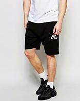 Шорты NIKE, найк, черные, спортивные, трикотаж, в наличии, белое лого, молодежные, ст7
