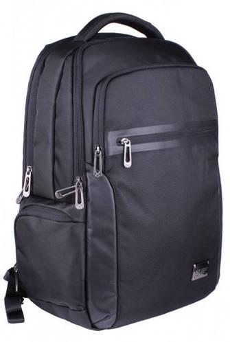 """Черный рюкзак с отделением для ноутбука 15,6"""" и планшета тканевый 25 л. Roncato Desk 7181/01"""