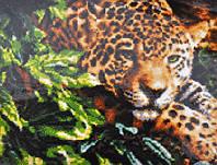 Вышивание камнями Бриллиантовые ручки (на подрамнике) Леопард в джунглях (на подрамнике) (GU_198508) 40 х 50 с