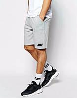 Шорты NIKE, найк, серые, хб, мелкое лого, в наличии, спортивные, стильные, ст65