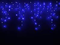 Гирлянда ICICLE синя, провод белый