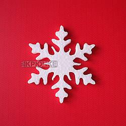 Резная новогодняя заготовка из пенопласта Снежинка №2